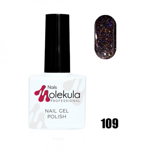 Гель-лак Gel Polish №109 Искрящий бордовый Nails Molekula 11 мл
