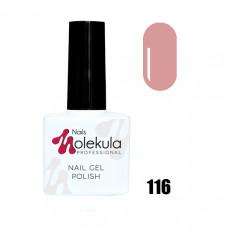 Гель-лак Gel Polish №116 Пудровый Nails Molekula 11 мл