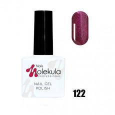 Гель-лак Gel Polish №122 Малиновое мерцание Nails Molekula 11 мл