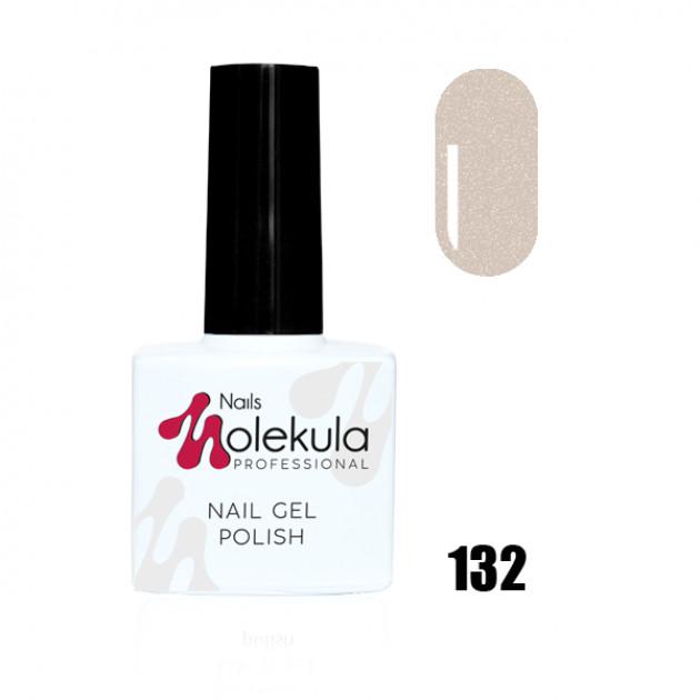 Гель-лак Gel Polish №132 Мерцающий мокрый камень Nails Molekula 11 мл