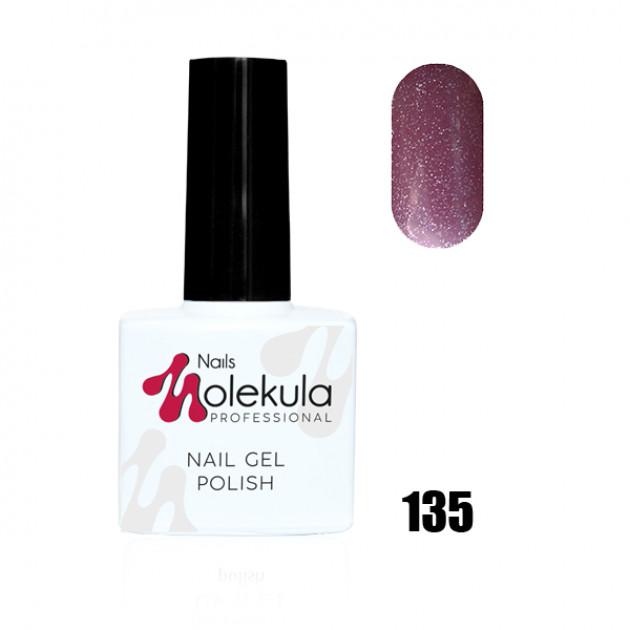 Гель-лак Gel Polish №135 Красный с голографическими блестками Nails Molekula 11 мл