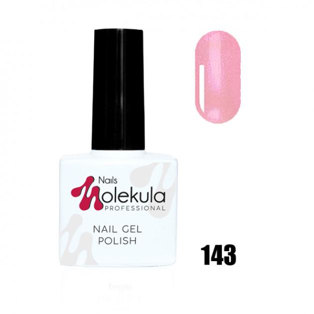Гель-лак Gel Polish №143 Розовый с мерцанием Nails Molekula 11 мл
