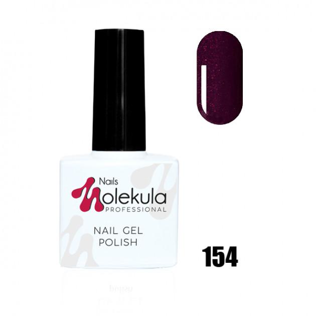 Гель-лак Gel Polish №154 Бордовый с мерцанием Nails Molekula 11 мл