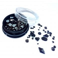Камни Алмаз 3D черные Nails Molekula
