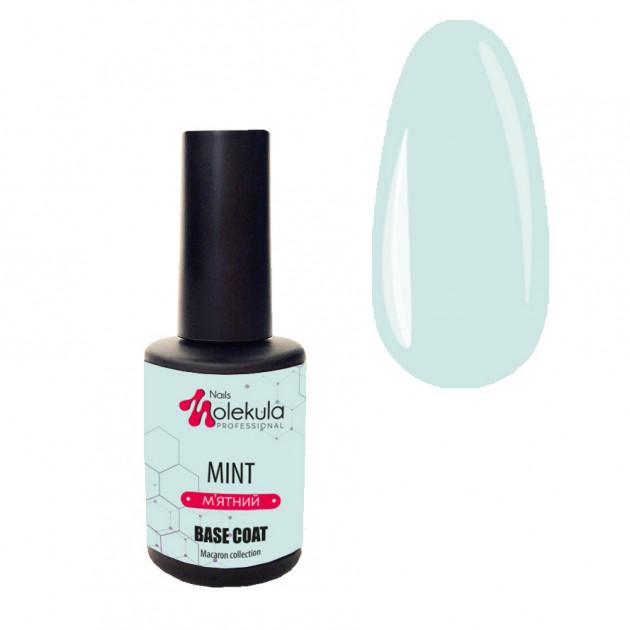 База для гель-лака (м'ятный) Nails Molekula Base Macaron Color Mint 12 мл