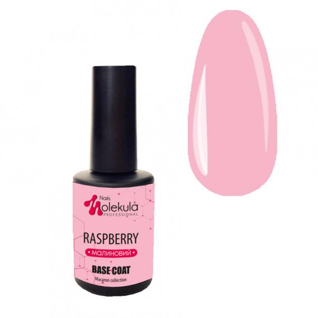 База для гель-лака (малиновый) Nails Molekula Base Macaron Color Raspberry 12 мл