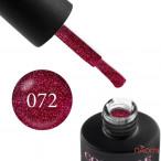Гель-лак Couture Colour 072 малиновый с шиммером и блестками Naomi 9 мл