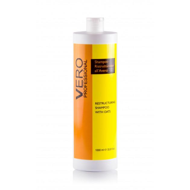 Восстанавливающий шампунь с экстрактом овса 1000 мл, Vero Professional