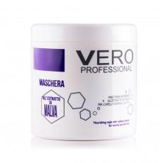 Питательная маска для нормальных и тонких волос с экстрактом мальвы 1000 мл, Vero Professional