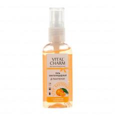 Антибактериальный гель для рук  с ароматом мандарина Vital Charm D-пантенол 50 мл