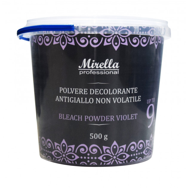 Осветляющая фиолетовая антижелтая пудра для волос 500 г, Mirella Professional Blue Bleach Powder