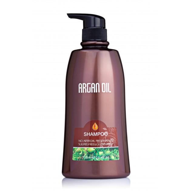 Безсульфатный шампунь для волос с аргановым маслом 750 мл, Bingo Morocco argan oil