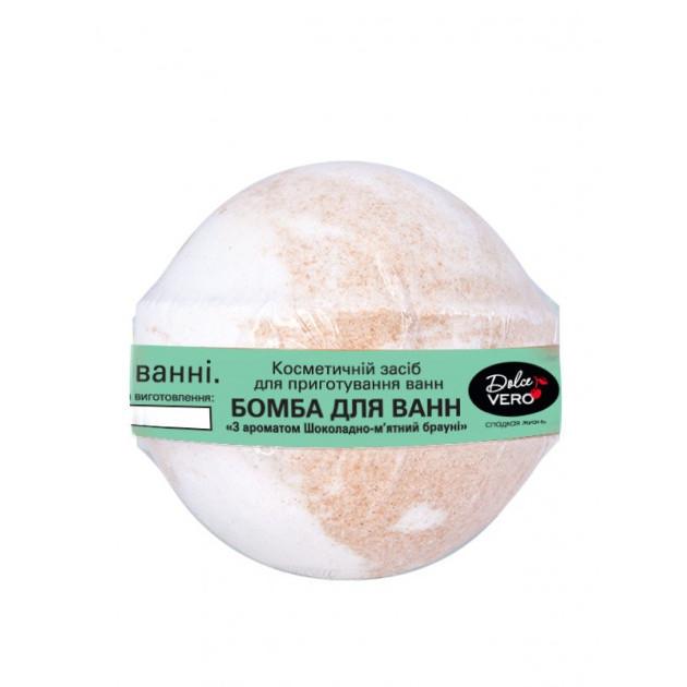 Бомба для ванны Шоколадно-мятный брауни DolceVero 75 г