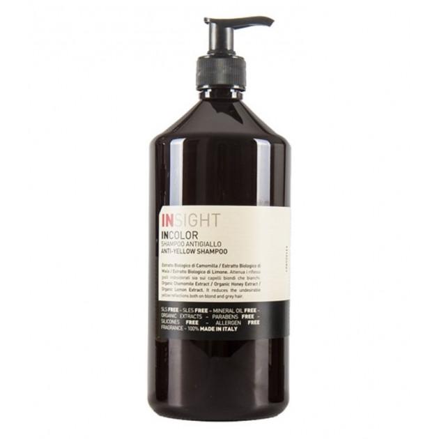 Шампунь для нейтрализации желтого оттенка волос 900 мл Insight Incolor Anti-Yellow Shampoo