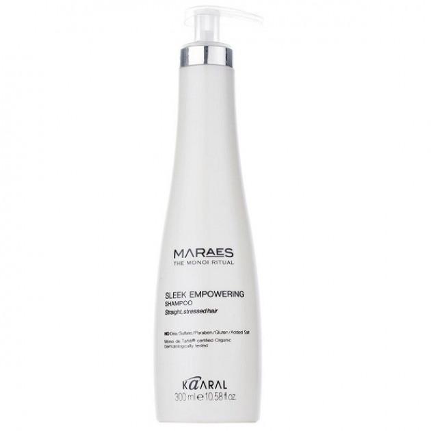 Восстанавливающий шампунь для прямых поврежденных волос 300 мл, Kaaral Maraes Sleek Empowering Shampoo