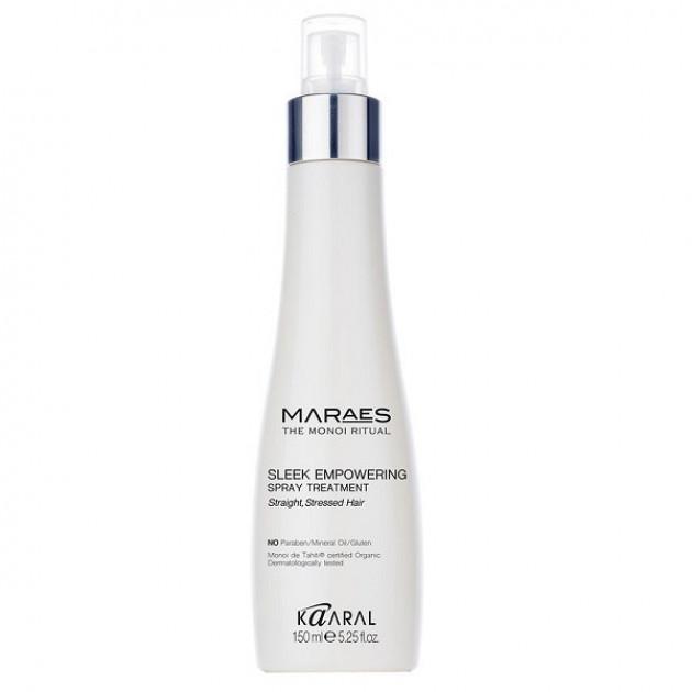 Спрей-уход за прямыми и подверженных стрессу волосами 150 мл, Kaaral Maraes Sleek Spray