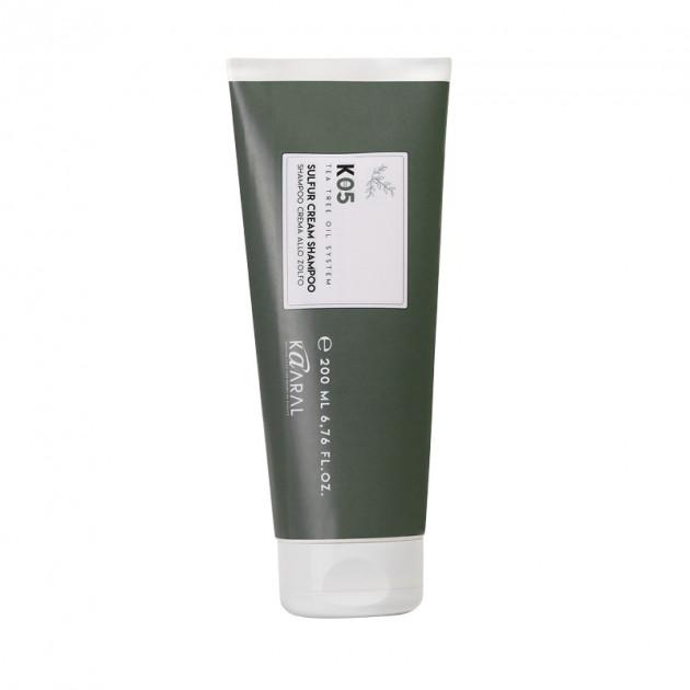 Трихологический крем-шампунь на основе серы 250 мл, Kaaral К05 Cream Shampoo