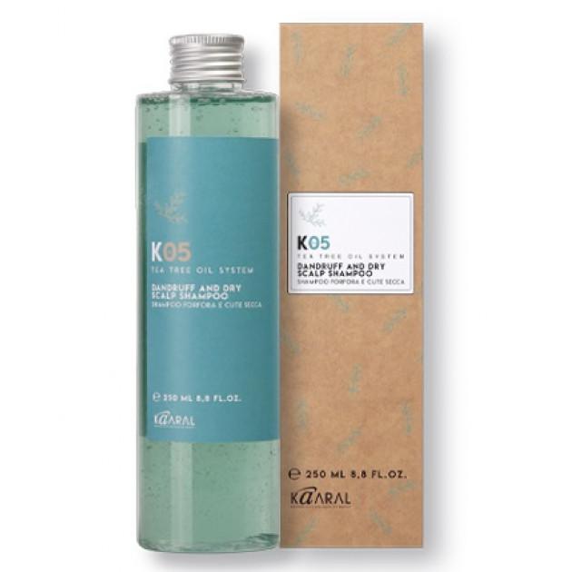 Шампунь против сухой перхоти 250 мл, Kaaral K05 Dandruff and Dry Shampoo