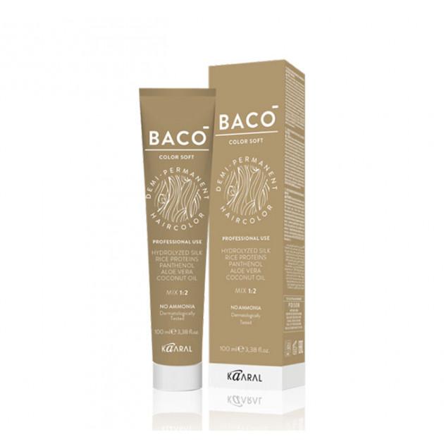 Безаммиачная краска для волос 7.44 интенсивный медный блондин Kaaral Baco Soft Color 100 мл
