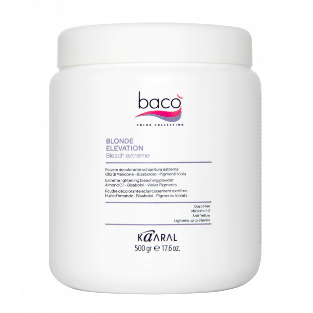 Пудра осветляющая для волос 500 гр Kaaral Baco Blonde elevation
