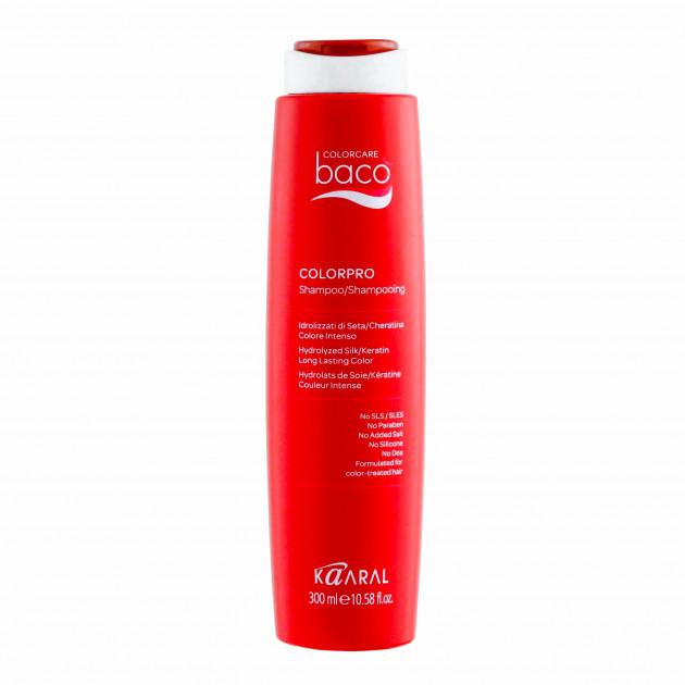 Шампунь после окрашивания с кислым pH на основе гидролизатов шелка и кератина 300 мл Kaaral Baco Colorpro Shampoo