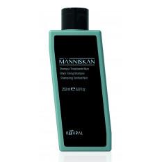 Черный тонирующий шампунь для волос 250 мл Manniskan, Kaaral