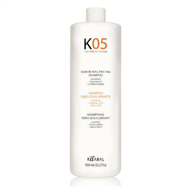 Шампунь для восстановления баланса секреции сальных желез 1000 мл, Kaaral K05 Sebum Balancing Shampoo