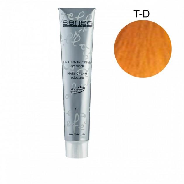 Стойкая краска для волос T-D золотистый корректор 100 мл, Kaaral Sense Colours