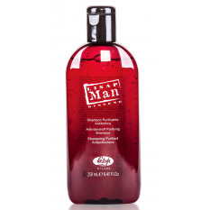 Шампунь для волос против перхоти для мужчин Lisap Man Anti-Dandruff Purifying Shampoo 250 мл