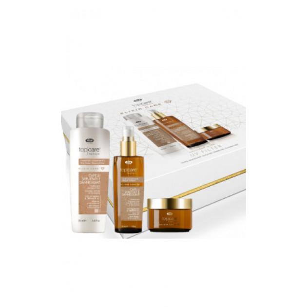 Подарочный набор для волос Lisap Top Care Repair Elixir Shining 250 мл+150 мл+50 мл