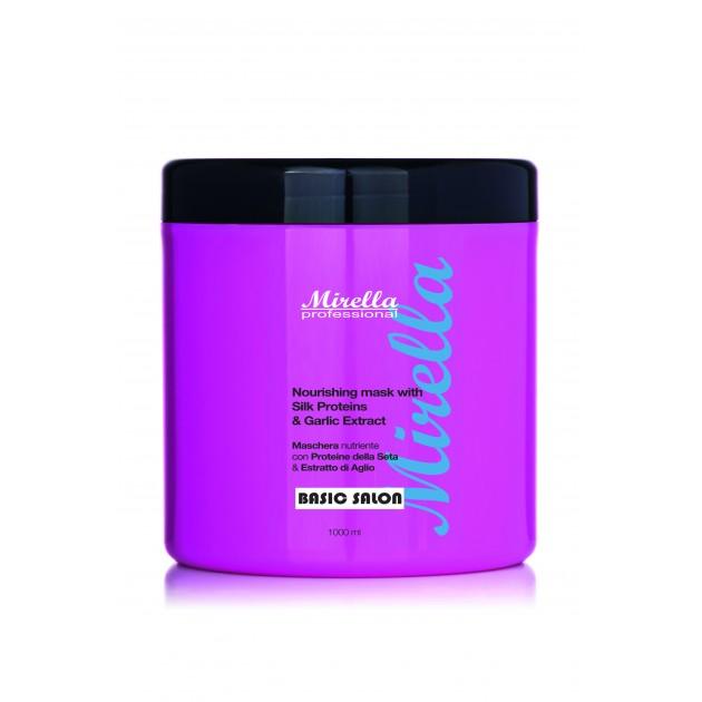 Питательная маска с протеинами шелка и экстрактом чеснока 1000 мл, Mirella Professional