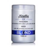 Маска для светлых, седых и обесцвеченных волос 1000 мл, Mirella Professional Blond Mask With Silk Proteins