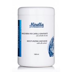 Увлажняющая маска для волос с экстрактом шелка 1000 мл, Mirella Professional Moisturizing Hair Mask