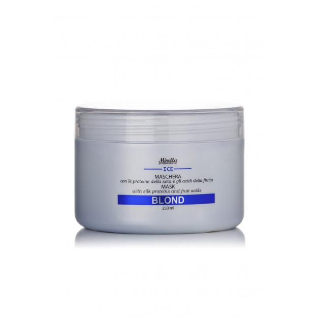 Маска для светлых, седых и обесцвеченных волос 250 мл, Mirella Professional Blond Mask With Silk Proteins