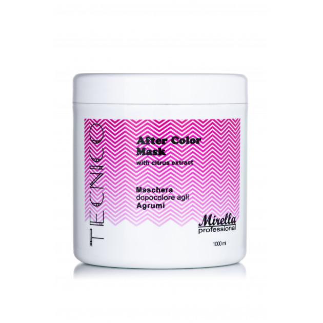 Маска для волос после окрашивания с экстрактом цитрусов 1000 мл, Mirella Professional