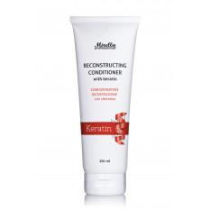 Восстанавливающий кондиционер с кератином 250 мл, Mirella Hair Care Reconstructing Conditioner