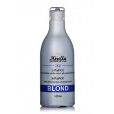 Шампунь для светлых, седых и обесцвеченных волос 300 мл, Mirella Blond Shampoo