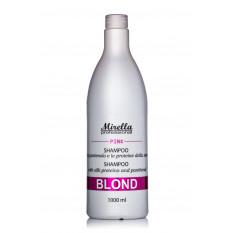 Шампунь для светлых и обесцвеченных волос БЛОНД PINK 1000 мл, Mirella Blond Shampoo