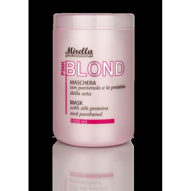 Маска для светлых и обесцвеченных волос БЛОНД PINK 1000 мл, Mirella Blond Pink Mask
