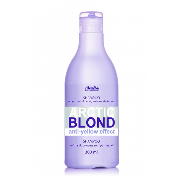 Шампунь для светлых, седых и обесцвеченных волос 300 мл, Mirella Arctic Shampoo