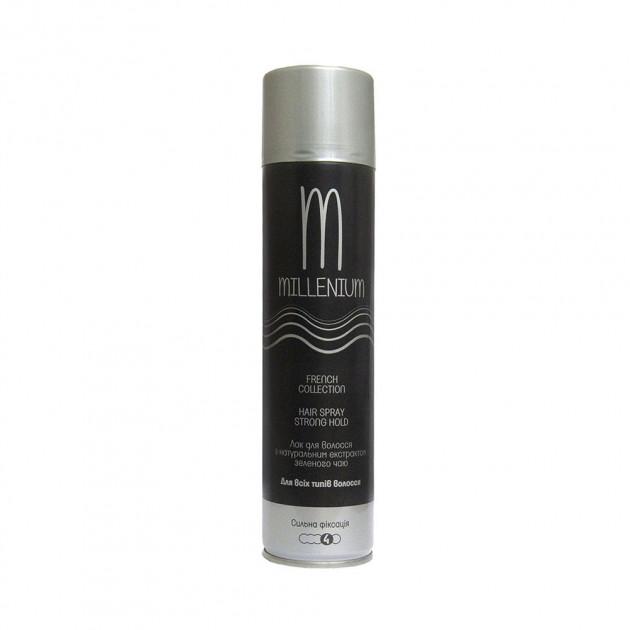 Лак для волос сильной фиксации с экстрактом зеленого чая Millenium Hair Spray 250 мл