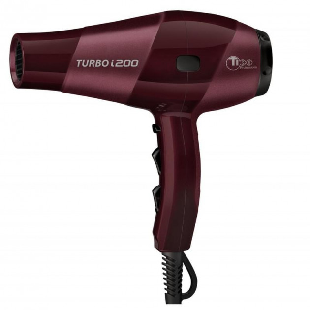 Фен для волос бордовый TICO Professional Turbo i200 (100021)